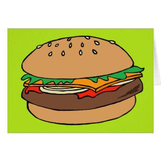 Hamburger blank greeting card