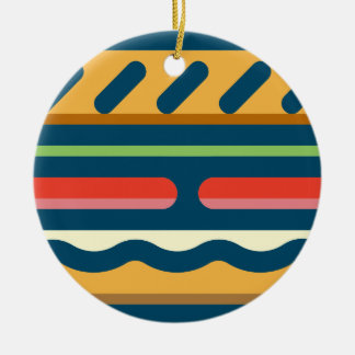 Hamburger Ceramic Ornament