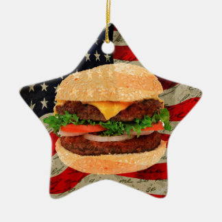 Hamburger Ceramic Star Decoration