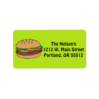 Hamburger custom labels