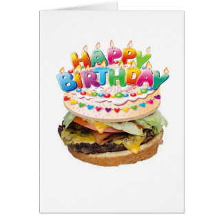 Hamburger Deluxe Birthday card