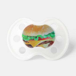 hamburger design, original painting pacifier