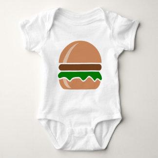 hamburger fast food a sandwich baby bodysuit