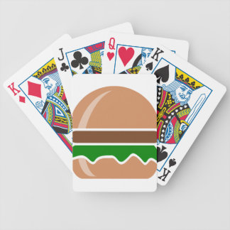 Hamburger fast food a sandwich bicycle playing cards