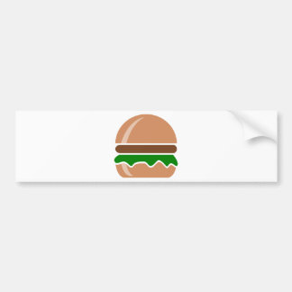 Hamburger fast food a sandwich bumper sticker