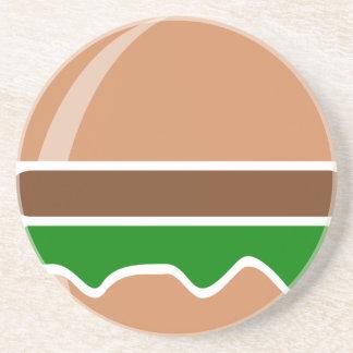 hamburger fast food a sandwich coaster