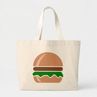 hamburger fast food a sandwich large tote bag