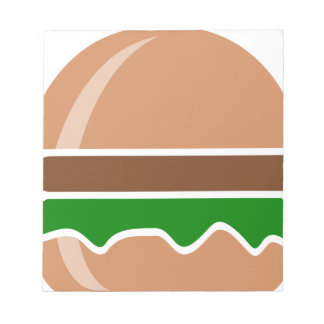 Hamburger fast food a sandwich notepad
