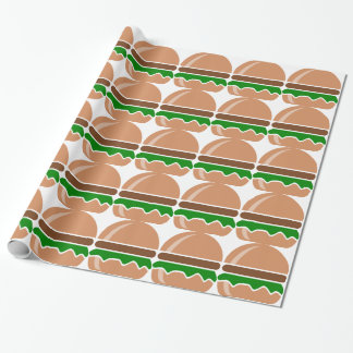 hamburger fast food a sandwich wrapping paper