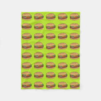 hamburger fleece blanket
