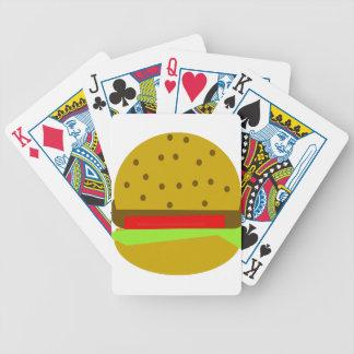 Hamburger food fast food burger bicycle playing cards