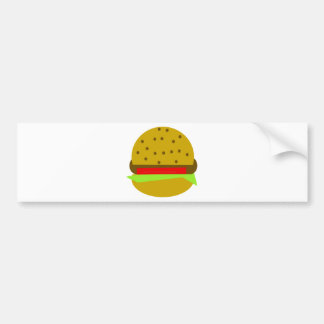 hamburger food fast food burger bumper sticker