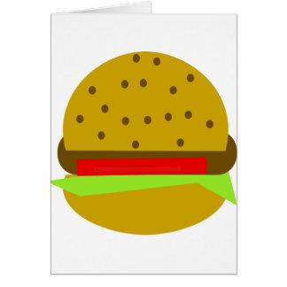 Hamburger food fast food burger card