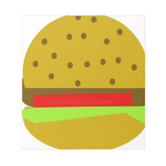 hamburger food fast food burger notepad
