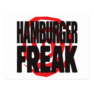 Hamburger Freak Postcard