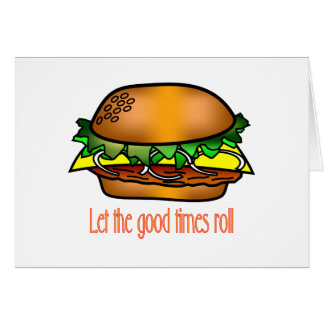 Hamburger Good Times Card