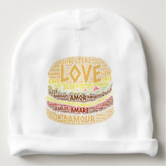 Hamburger illustrated with Love Word Baby Beanie