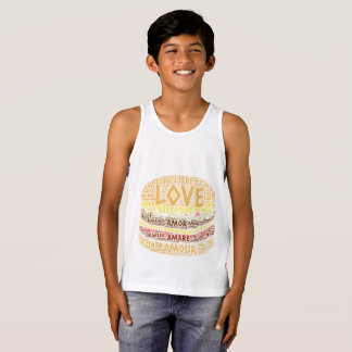 Hamburger illustrated with Love Word Singlet