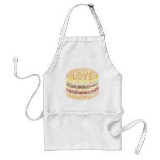 Hamburger illustrated with Love Word Standard Apron
