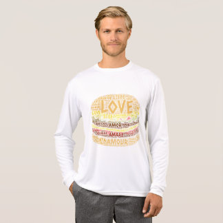 Hamburger illustrated with Love Word T-Shirt