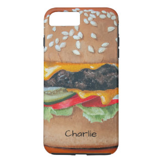 Hamburger Illustration custom name phone cases