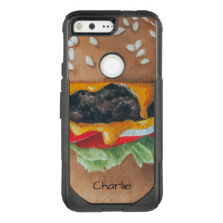 Hamburger Illustration custom name phone cases