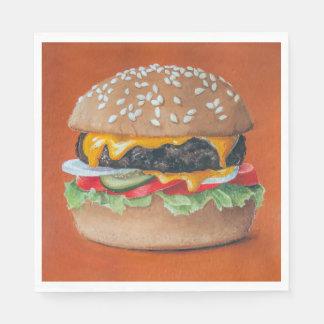 Hamburger Illustration paper napkins