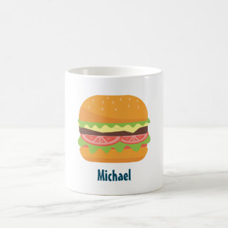Hamburger Illustration Personalized Coffee Mug