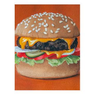Hamburger Illustration postcard