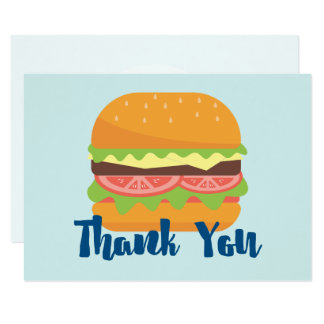 Hamburger Illustration Thank You Card