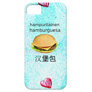Hamburger In Finnish, Spanish, And Chinese Barely There iPhone 5 Case