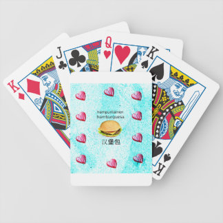 Hamburger In Finnish, Spanish, And Chinese Bicycle Playing Cards