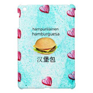 Hamburger In Finnish, Spanish, And Chinese iPad Mini Cases
