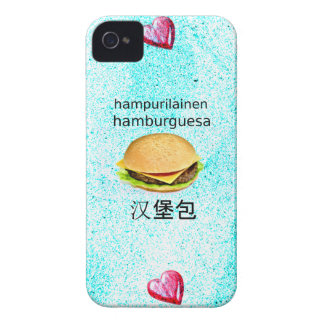 Hamburger In Finnish, Spanish, And Chinese iPhone 4 Case