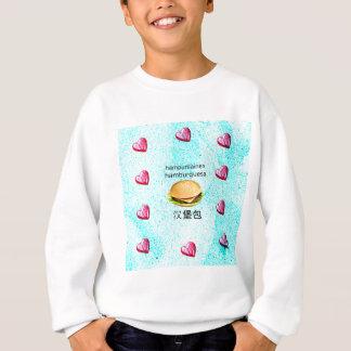 Hamburger In Finnish, Spanish, And Chinese Sweatshirt