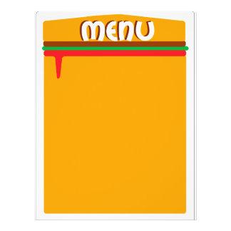 hamburger menu page 21.5 cm x 28 cm flyer