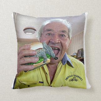 Hamburger Mouse Throw Pillow