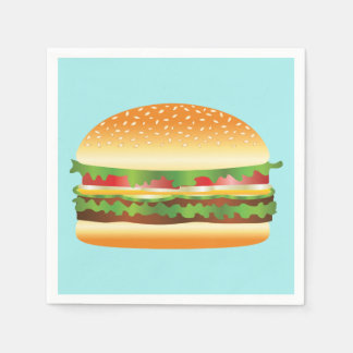 Hamburger Paper Napkins