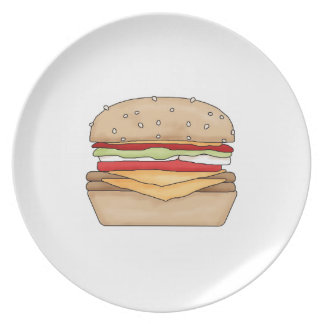 Hamburger Plate! Party Plate