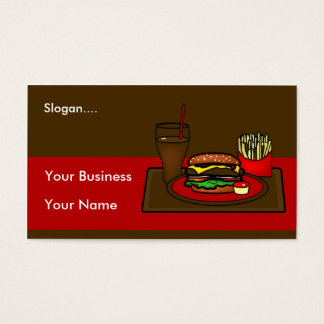 Hamburger Platter Business Card