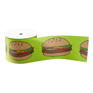 Hamburger ribbon grosgrain ribbon
