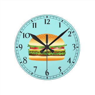 Hamburger Round Clock