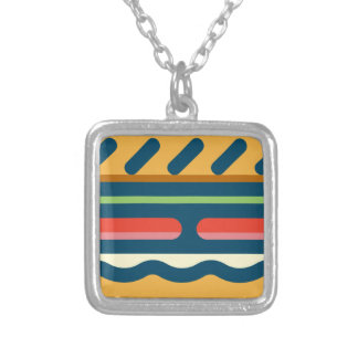 Hamburger Silver Plated Necklace