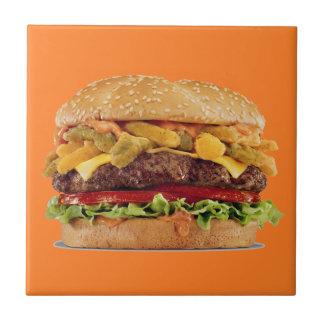 Hamburger Small Square Tile
