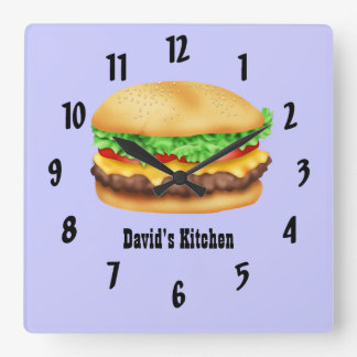 Hamburger Square Wall Clock