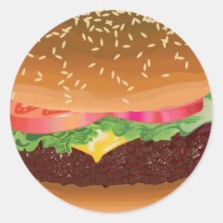 Hamburger stickers