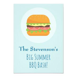 Hamburger-  Summer BBQ Party Invitation