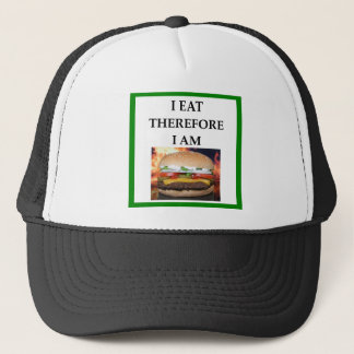HAMBURGER TRUCKER HAT