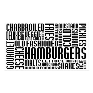 hamburgers (chit chat) business cards