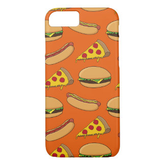 Hamburgers, Hotdogs and Pizza iPhone 7 Case